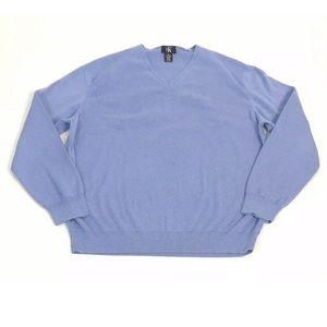 Calvin Klein Knit Sweater Light Blue V-Neck